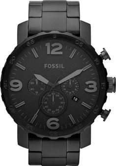 Fossil - JR1401 - Montre Homme - Quartz Analogique - Chronomètre - Bracelet Acier Inoxydable Plaqué Noir: Amazon.fr: Montres