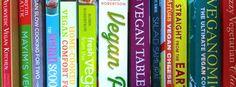 vegan cookbook shelf