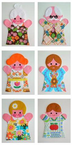 Make your own puppet family! | Handmade by alice apple | Bloglovin'