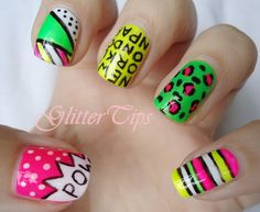 Glitter Tips: Makeup Savvy 15 Day Nail Challenge - Day 7 - Neon