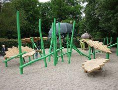 Znalezione obrazy dla zapytania plac zabaw naturalne drewno