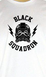 Camiseta Tie Fighter Black Squadron - Camisetas Personalizadas, Engraçadas e Criativas