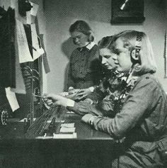Small-Lottas operating a Telephone Switchboard