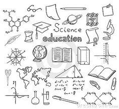 Symbolen science, wetenschap. Vector Royalty-vrije Stock Foto's - Beeld: 18323258