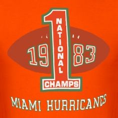 Inspired by a design from 1984, remember the start of the Miami Hurricanes football dynasty with this shirt that honors the team's 1984 Orange Bowl win, giving them the 1983 National Championship.