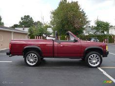 dodge dakota convertible | 1989 Dodge Dakota Sport Regular Cab 4x4 Custom Convertible Truck - Red ...
