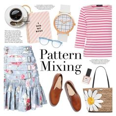 """Pattern Mix Master"" by christianpaul ❤ liked on Polyvore featuring Zimmermann, Saint James, ban.do, Anja, Mykita, FEIT, Kate Spade, ncLA, contestentry and patternmixing"