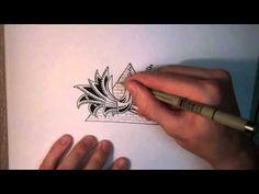 zentangle patterns video
