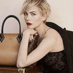 Dear Michelle, you make me want to bleach and cut off all my hair. swoon. | Michelle Williams for Louis Vuitton