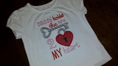 Daddy holds the key to my heartFREE by SouthernBlingBowtiqu, $23.00