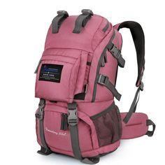 40L Internal Frame Climbing Bag Waterproof Terylene Material Unisex Travel Camping Sport Outdoor Backpack has the Rain Cover