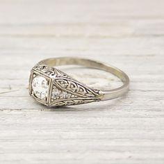 Image of .52 Carat Vintage Diamond Engagement Ring