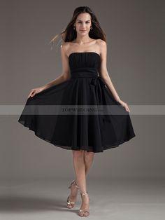Brigitte - Strapless gasa una línea vestido de damas de honor