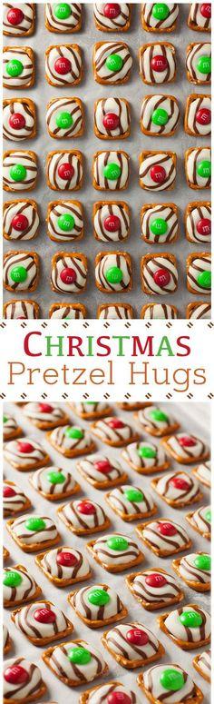 Pretzel MandM Hugs {Christmas Style}