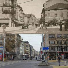 Rue de la Terrassière #terrassiere #eauxvives #genève #geneve #geneva #rephotography Street View, American, Instagram, Living Water