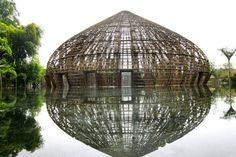 Vietnamese designers Vo Trong Nghia combined natural materials like bamboo with contemporary design practices to create the wNw Bar in Thu Dau Mot Town, Binh Duong, Vietnam.