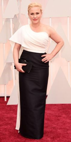Academy Awards 2015 Red Carpet Arrivals - Patricia Arquette in Rosetta Getty  from #InStyle #Oscars