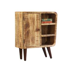 This mango wood cabinet is modern and sleek with just a touch of vintage inspiration. Store your favorite books, show off treasures from your travels, or simply display a few knickknacks. Whatever you ...  Find the From This Angle Wood Cabinet, as seen in the Reclaimed for You Collection at http://dotandbo.com/collections/reclaimed-for-you?utm_source=pinterest&utm_medium=organic&db_sku=KLL0183