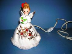 Vintage Josef Originals Lighted Angel Figurine 6 1/4""
