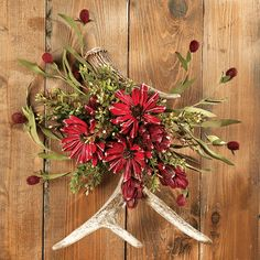 Country Rustic Eucalyptus Swag With Pink By