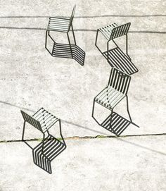 Bouroullec brothers design slatted Palissade outdoor furniture for Hay Shadow Photography, Abstract Photography, Street Photography, Monochrome Photography, Shadow Art, Blog Deco, Op Art, Light And Shadow, Belle Photo