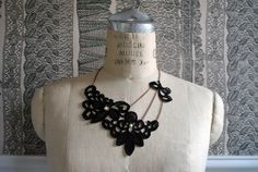 Asymmetrical Lace Necklace.