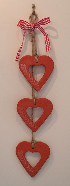 Salt dough hearts by Elin B, via Flickr