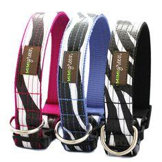 Cebra Loca Oilcloth Collar (Crazy Zebra) | Oilcloth & Laminated Cotton Dog Collars | Designer Dog Collars | Shop Mimi Green