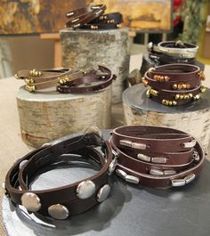 DIY beaded leather bracelet, gift idea for sisters