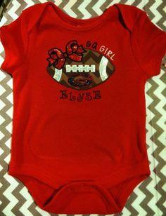 b9cc0241 Custom Personalized Football onesie GA boy by SewSparklyByHeather, $20.00  Daisy Marie, Football Onesie,