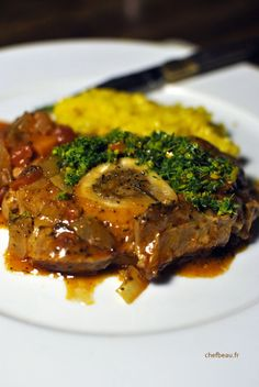 Pork Recipes 96540 Osso Bucco at Milanese - chefbeau Veal Osso Bucco, Risotto Milanese, Italian Dinner Recipes, Italian Foods, Buffet, Slow Cooked Beef, Brunch, Best Instant Pot Recipe, Chicken