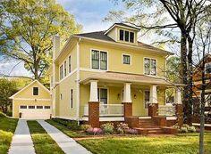 yellow foursquare house - Google Search