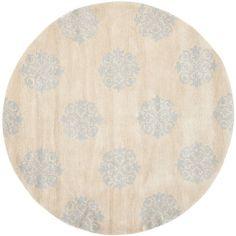 Safavieh Handmade Medallion Beige New Zealand Wool Runner Rug (6' x 6' Round) (SOH424D-6R), Size 2'6 x 12' (Cotton, Floral)