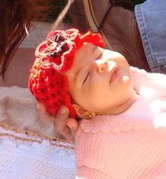 sombrero en crochet para recién nacida