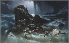 Il Diluvio Universale, dipinto di Francis Danby