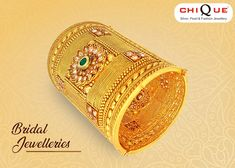 Every bride dreams to look special on her big day. Jewelleries enhance the royal look of every bride. Here's the list of jewelleries every bride must own. Indian Jewelry Earrings, Indian Jewelry Sets, Filigree Jewelry, Temple Jewellery, Bridal Jewelry, Fashion Jewelry Stores, Trendy Jewelry, Fashion Jewellery, Kundan Bangles