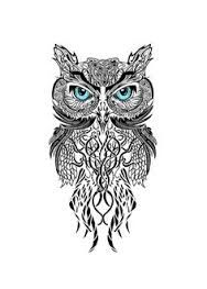 Image result for owl tattoo design old school