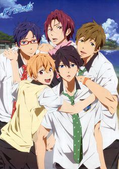 Nishiya Futoshi, Kyoto Animation, Free!, Makoto Tachibana, Haruka Nanase (Free!)