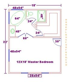 i like this master bath layout. no wasted space. very efficient