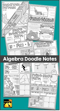 interactive doodle notes for Algebra class
