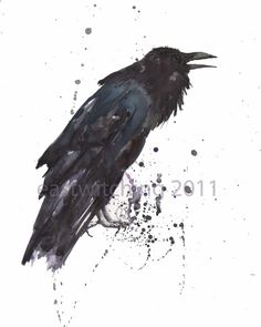 Awesome inspiration for Azental the #raven. #watercolour