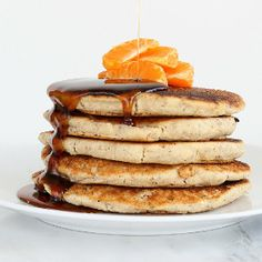 Gluten-free Orange Yogurt Pancakes and Pancake mix recipe too. Vegan
