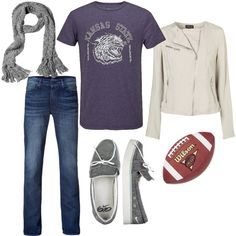 bring on kstate football!, created by aftanistan on Polyvore