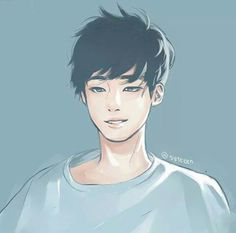 Fanart of Wonwoo! Whoever did this is so talented! He looks so handsome