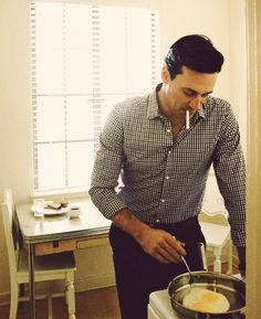 Jon Hamm in the kitchen. That is all.