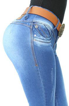 REf: 032-2 JEAN SIN BOLSILLO (Stone Medio) Jeans Pants, Denim Jeans, Ropa Semi Formal, Denim Fashion, Girl Fashion, Estilo Denim, Sexy Hips, Curvy Jeans, Only Girl
