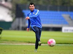 Gary Medel training ahead of the Nerazzurri's trip to Sampdoria