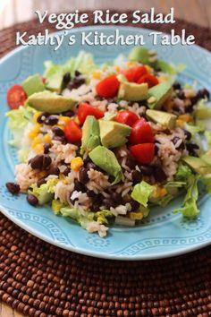 Veggie Rice Salad | Kathy's Kitchen Table