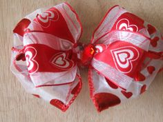 Valentine's Day Hair Bow by ang744 on Etsy, $4.00