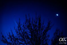Caída de la noche en la provincia de Córdoba, Argentina